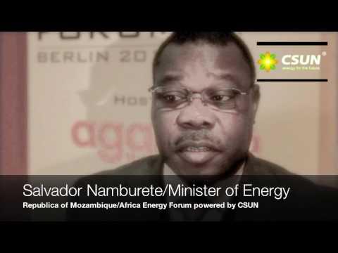 CSUN Media Center: Salvador Namburete/ Minister of Energy