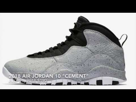 """94d54b05c04 JULY RELEASE 2018 AIR JORDAN 10 """"CEMENT"""" AKA IM ON THE FENCE - YouTube"""