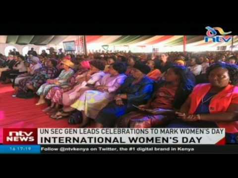 UN Secretary General leads celebrations to mark Women's day in Kenya