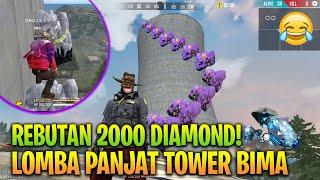 REBUTAN 2000 DIAMOND! LOMBA PANJAT TOWER BIMASAKTI PAKE ES KEPAL