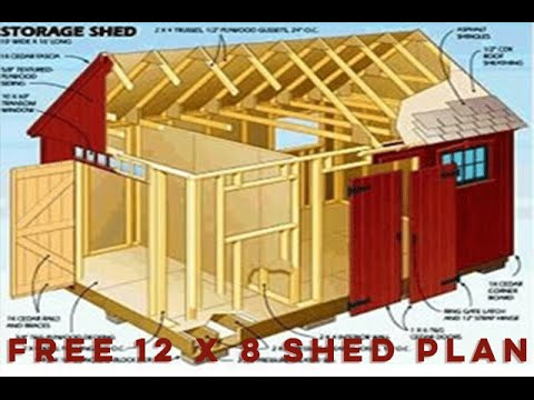 Free 12 X 8 Shed Plan With Illustrations Youtube