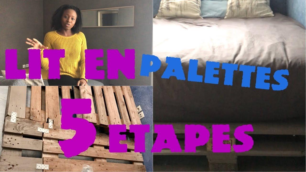 Fabriquer un lit avec des palettes industrielles en 5 ETAPES - YouTube