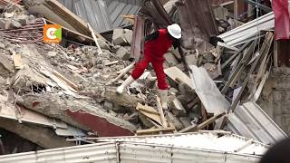 Two people still trapped in rubble after Ruai building collapse