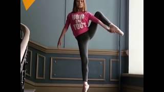 Küçük Rus balerinin denge figürleri sosyal medyada ilgi odağı oldu