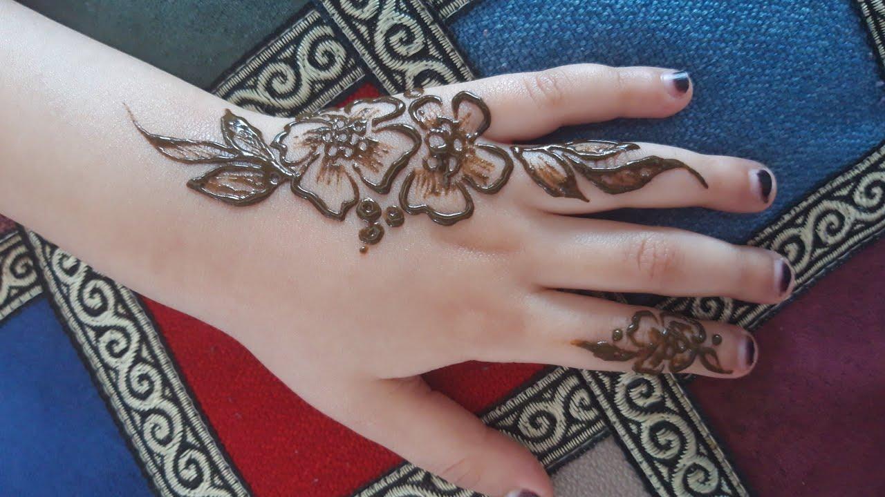 نقش حناء سهل وسريع Easy And Fast Henna Inscription Youtube