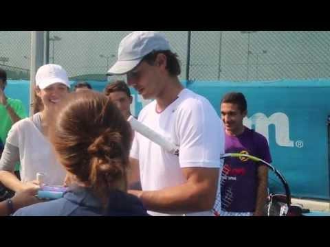 Fans enjoy Rafael Nadal's clinic at MWTC