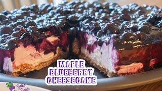 Vegan Maple Blueberry Cheesecake (that Will Blow Your Mind.)