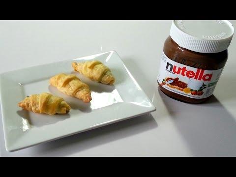 Recette n°5 Mini Croissants Nutella