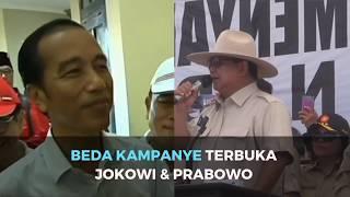 Beda Kampanye Terbuka Jokowi dan Prabowo