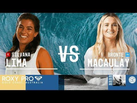 Lima vs. Macaulay - Round Two, Heat 6 - Roxy Pro Gold Coast 2018