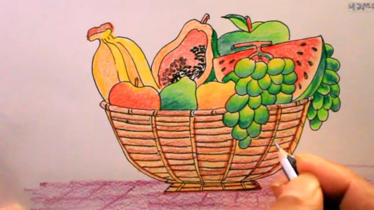 كيف ترسم سلة فواكه Drawing 15