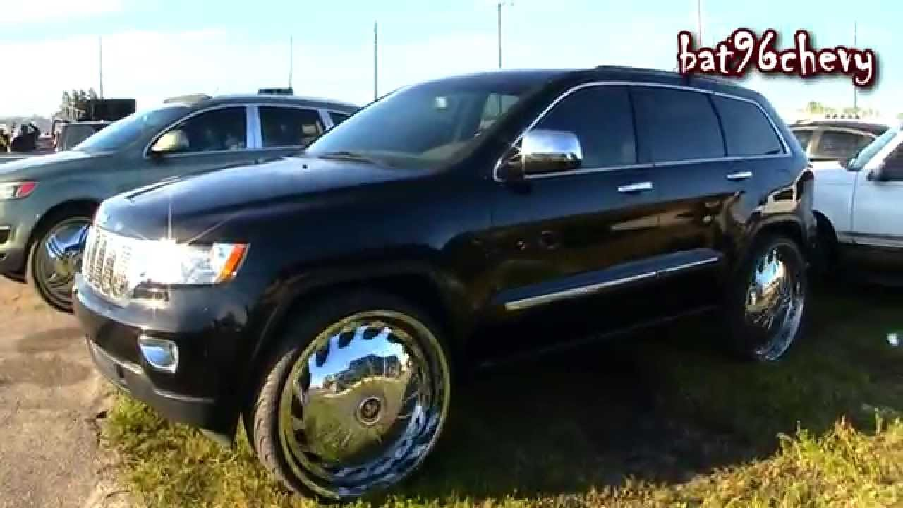 "2013 jeep grand cherokee laredo on 28"" dub drama floaters - 1080p"
