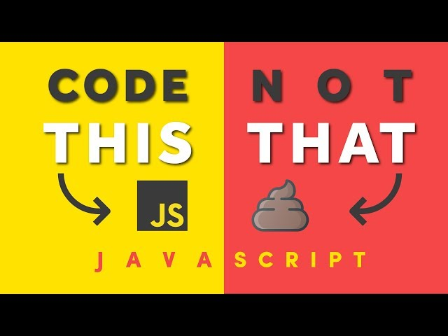 JavaScript Pro Tips - Code This, NOT That