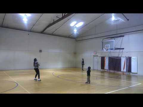 Hot girl hits 3 in a row NBA basketball shots from half court ! She got game ! Amazing Shoots Trick