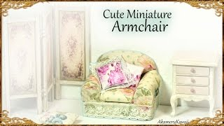Cute Miniature Doll Armchair - Easy Cardboard & Fabric Tutorial