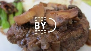 Salisbury Steak Recipe, How To Make Salisbury Steak, Easy Salisbury Steak Recipe