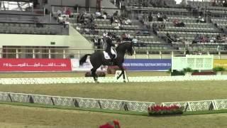 Pegasus MK And Anna Ross Davies - Al Shaquab CDI5* - Grand Prix Special 3rd Place.