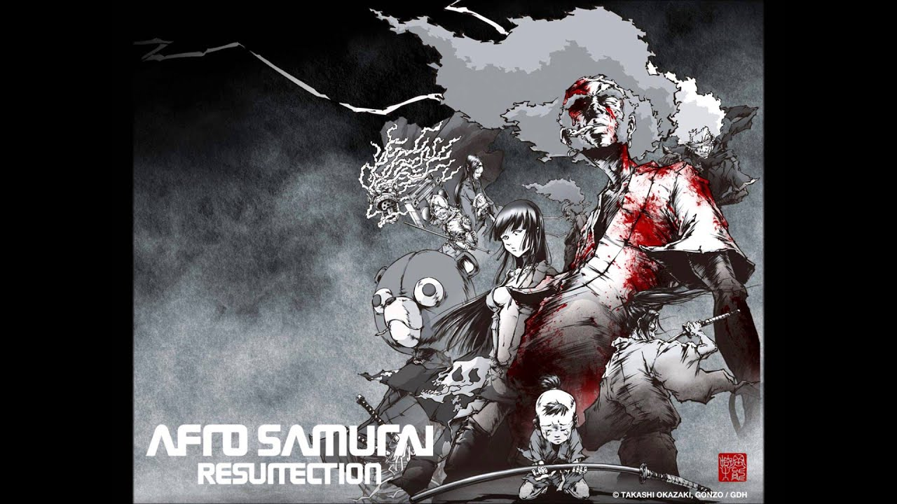 Tattoo Girl Wallpaper Cartoon Bloody Samurai Afro Samurai Resurrection Ost End Credits