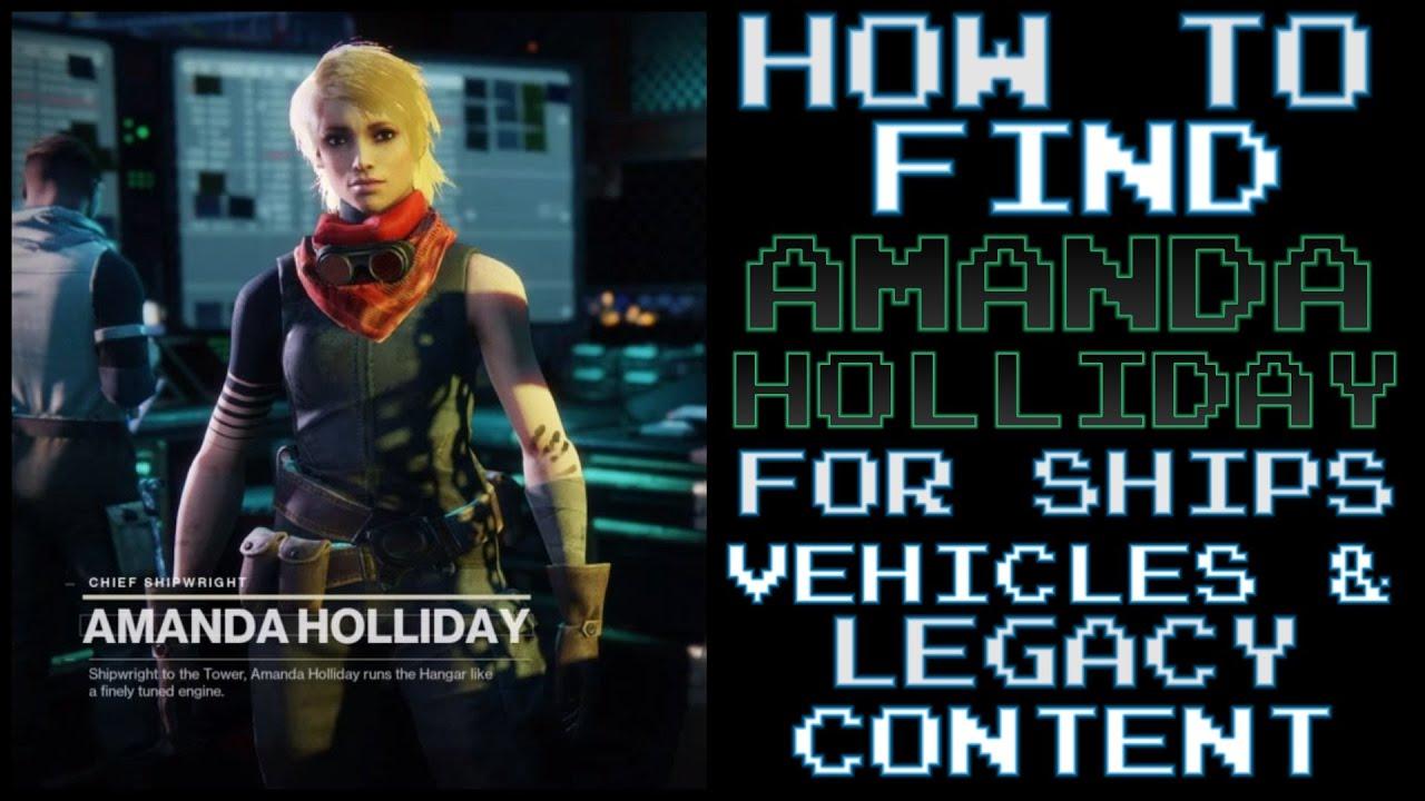 Amanda Holliday Destiny 2 Location