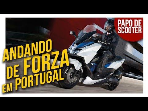 Andando de Honda FORZA em Portugal | Papo de Scooter com Josezito Motodriver