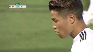 PKのチャンスを永井 龍(松本)が確実に沈め、アウェイの松本が試合を振...