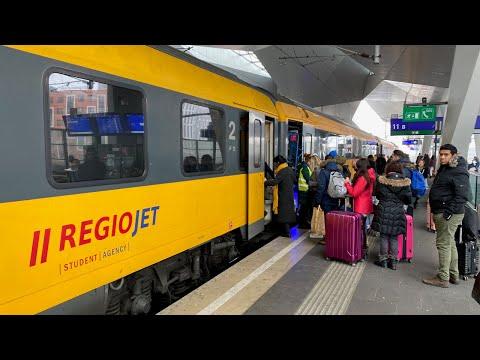 Vienna to Prague by Regiojet train from €15