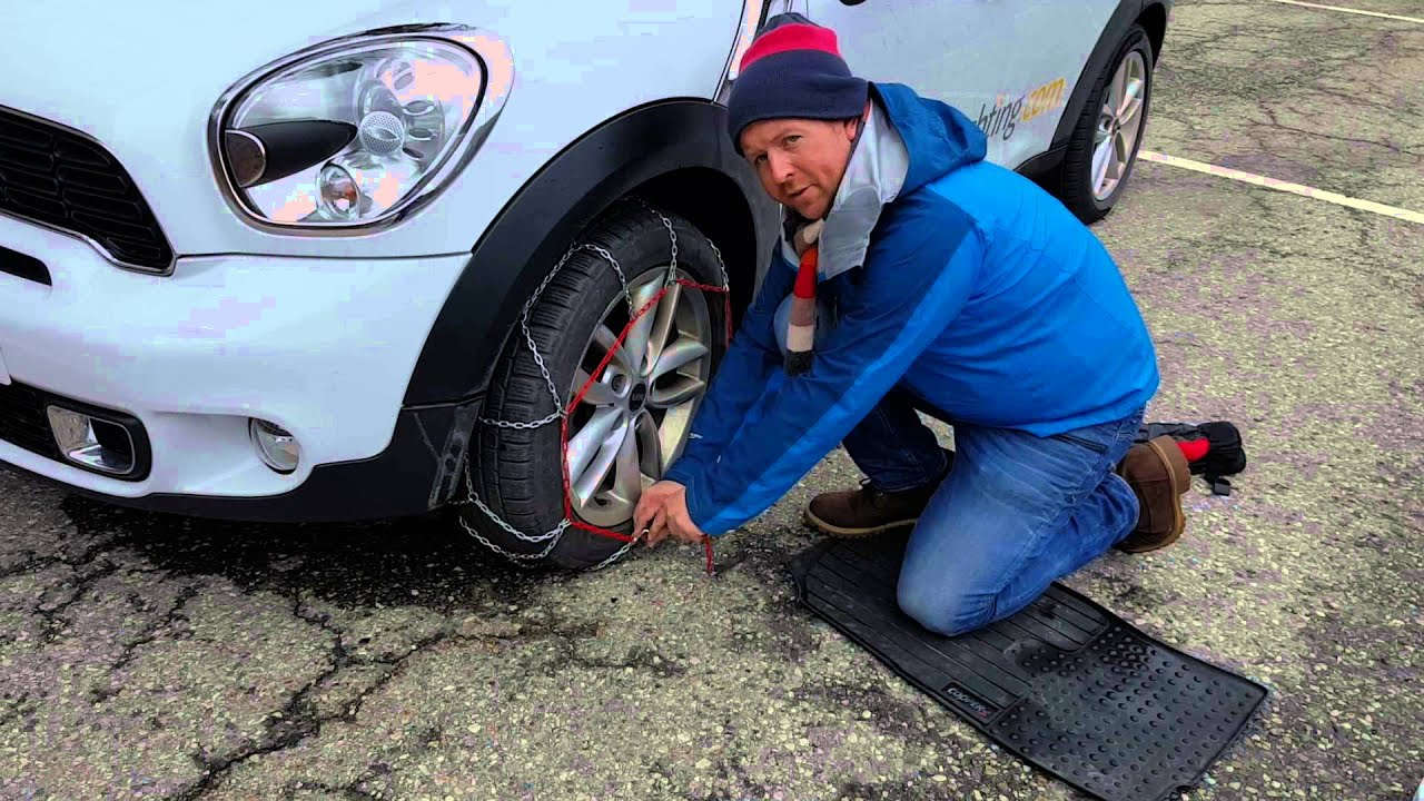 How To Fit Snow Chains To Your Car Youtube