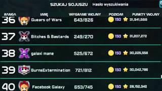 Galaxy Life - Sojusze/alliances/alianzas Top 101 ( 2016-02-01 )