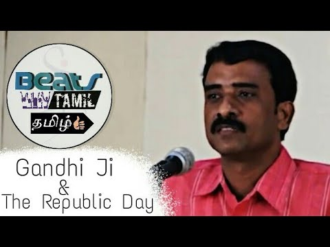 Mathimaran Excellent Speech | About Gandhi Ji and the Republ