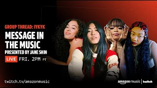 Message in the Music Q&A with Audrey Nuna and Christelle de Castro   Group Thread   Amazon Music