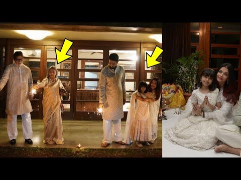 Omg ! Aishwarya Rai Bachchan and Jaya Bachchan seen together for diwali celebrations with family