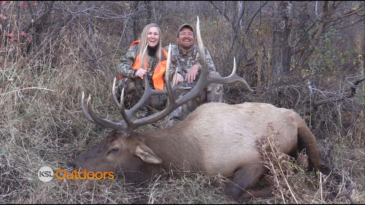 Trophy Bull Elk Hunt with the Wife on Northern Utah CWMU