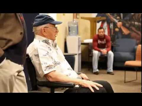 Lauren Bruner, USS Arizona Survivor, Talk at University of Arizona Vets Center, 12 5 2013