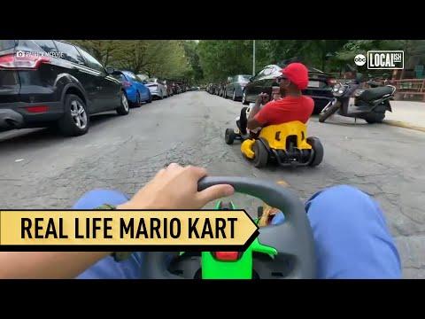 Chicago man brings Mario Kart game to life!