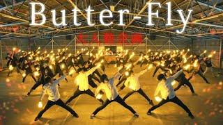 【大人数企画】Butter-Fly / 和田光司 ヲタ芸で表現してみた|Digimon op Butter-Fly Light Dance [北の打ち師達×有志×DJ和] thumbnail