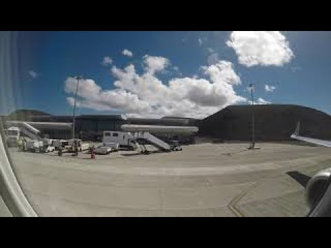 Landing & Take Off at St Helena Airport HD