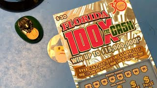Florida Lottery Scratch Offs - 100x The Cash Ticket
