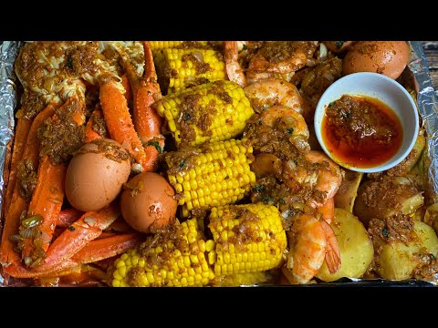 EASY SEAFOOD BOIL WITH SAUCE    THE BEST SEAFOOD BOIL    TERRI-ANN'S KITCHEN