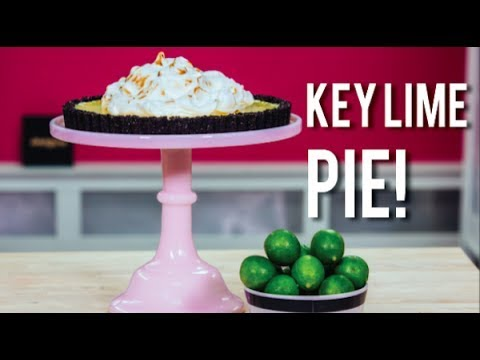 How To Make simple and sweet KEY LIME PIE with a CHOCOLATE CRUMBLE crust!