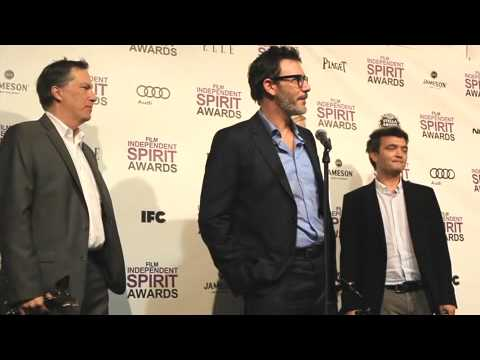 Michel Hazanavicius, James Cromwell & Penelope Ann Miller Of The Artist At 2012 Spirit Awards