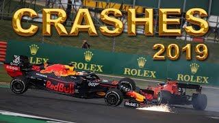 F1 2019 ALL Crashes & Mistakes - mid season