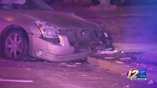 Chain reaction crash in Johnston sends driver to hospital
