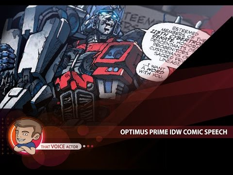 transformers IDW comics optimus speech