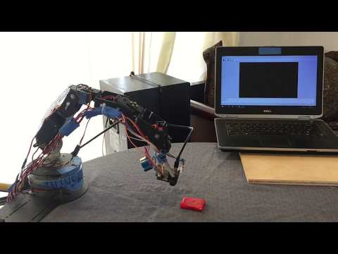 5DOF Robotic Arm using Pixy Camera and Electromagnet-Pick & Place