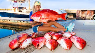 Caught Our Limit of Giant RED SNAPPER! Catch Clean Cook! Deep Sea Adventure (Gulf of Mexico Fishing)