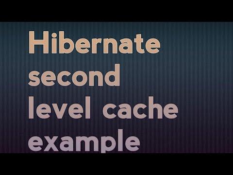 Hibernate second level cache example