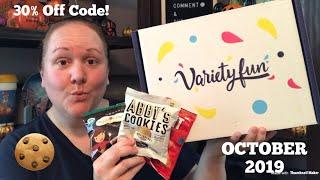 VARIETY FUN Snack Subscription Box | 30% Off Discount Code | October 2019 | #VarietyFunPartner