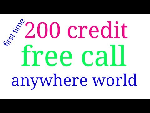 First time sign up and get 200 credit free call