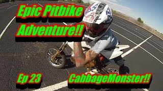 Epic Pitbike Adventure!!/Police Chase?/I Blow Up My Bike!!