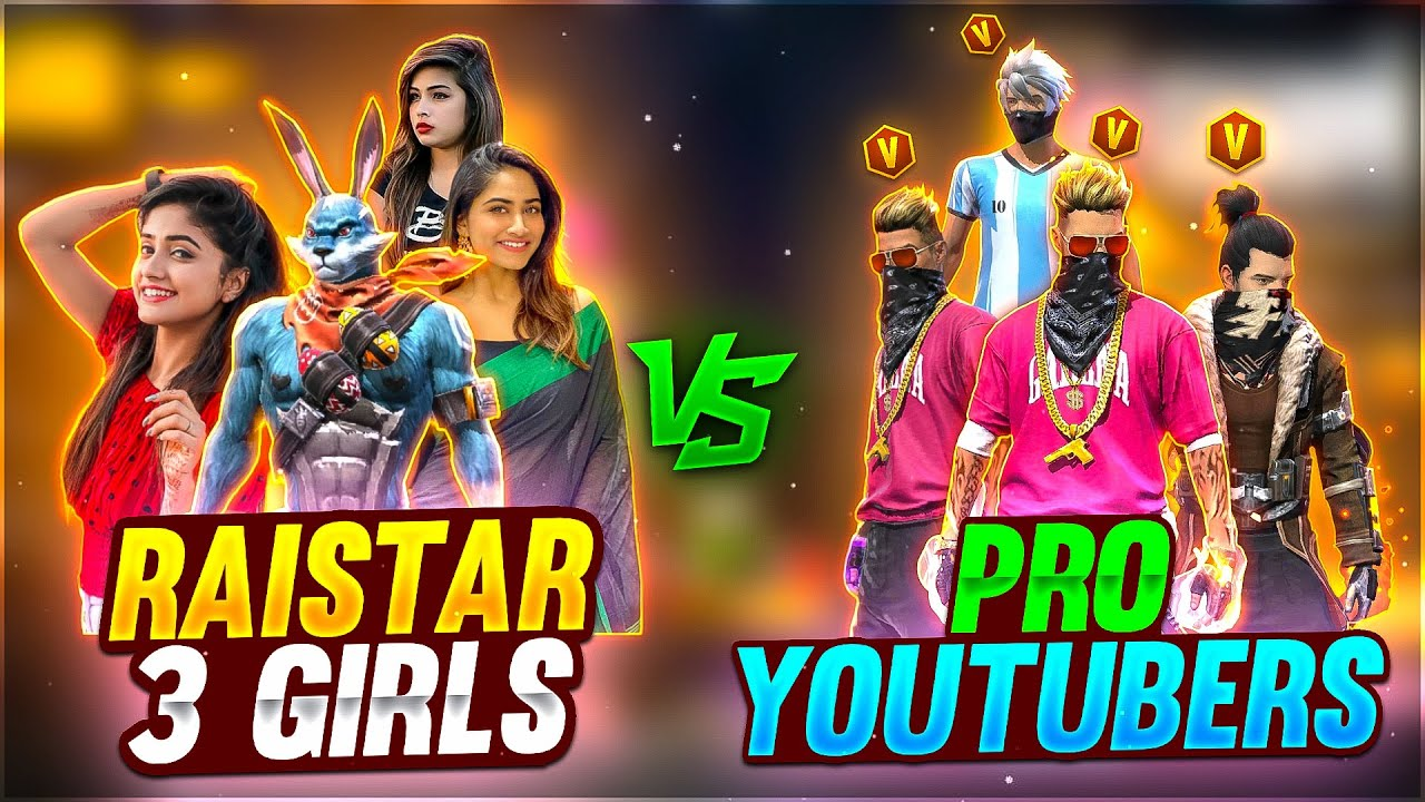RAISTAR & 3 GIRLS vs PRO V BADGEGod 😱   WHO WON?   - Garena Free Fire